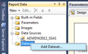 10 Parameterized Report - Create Dataset a