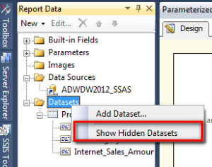 16 Parameterized Report - View Hidden Datasets