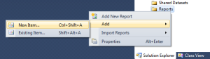 6 create a New Report