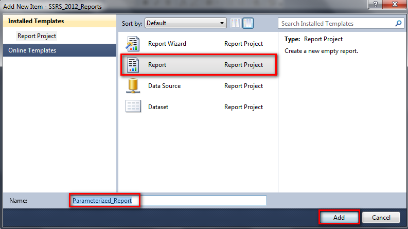 Creating a Parameterized Report in SSRS using MDX | About