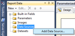 8 Parameterized Report - Create Data Source a